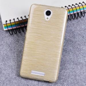 Силиконовый матовый непрозрачный чехол текстура Металл для Xiaomi RedMi Note 2