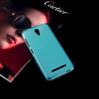 Силиконовый матовый полупрозрачный чехол для ASUS Zenfone Go Голубой