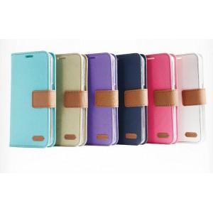 Чехол портмоне подставка на силиконовой основе текстура Ткань с дизайнерской застежкой и отделением для карт для ASUS Zenfone 2 Laser 5 ZE500KL