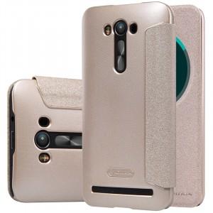 Чехол флип подставка на пластиковой матовой нескользящей премиум основе с круглым окном вызова для ASUS Zenfone 2 Laser 5.5 ZE550KL