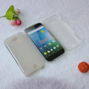 Силиконовый матовый полупрозрачный чехол для Acer Liquid Z530 Белый