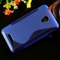 Силиконовый S чехол для Micromax Canvas Spark 2 Синий