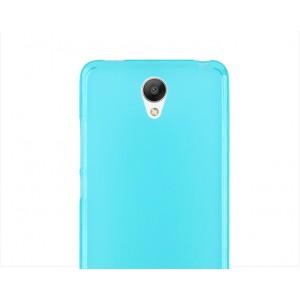Силиконовый матовый полупрозрачный чехол для Xiaomi RedMi Note 2 Голубой