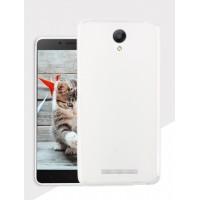 Силиконовый матовый полупрозрачный чехол для Xiaomi RedMi Note 2 Белый