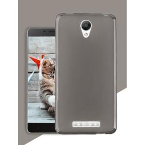 Силиконовый матовый полупрозрачный чехол для Xiaomi RedMi Note 2 Черный