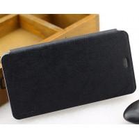 Текстурный чехол флип подставка на присоске для Xiaomi RedMi Note 2 Черный