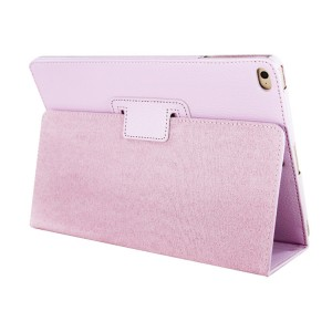 Чехол подставка с рамочной защитой и резинкой держателем для стилуса для Ipad Mini 4 Розовый