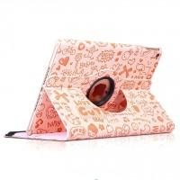 Текстурный чехол подставка роторный для Ipad Mini 4 Розовый