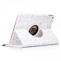 Текстурный чехол подставка роторный для Ipad Mini 4 Белый