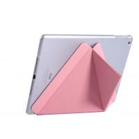 Полиуретановый чехол подставка серия Оригами на транспарентной поликарбонатной основе для Ipad Mini 4 Розовый