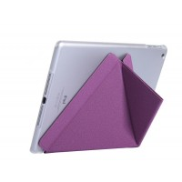 Полиуретановый чехол подставка серия Оригами на транспарентной поликарбонатной основе для Ipad Mini 4 Фиолетовый
