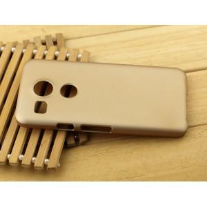 Пластиковый матовый чехол Металлик для Google LG Nexus 5X Бежевый