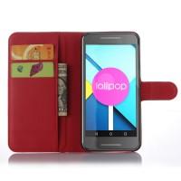 Чехол портмоне подставка с защелкой для Google LG Nexus 5X Красный
