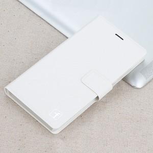 Чехол флип подставка на пластиковой основе с отделением для карт и магнитной защелкой для Lenovo A1000