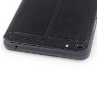 Текстурный чехол флип подставка на поликарбонатной основе для Lenovo Phab Plus Черный