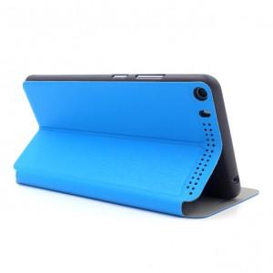 Текстурный чехол флип подставка на поликарбонатной основе для Lenovo Phab Plus Синий