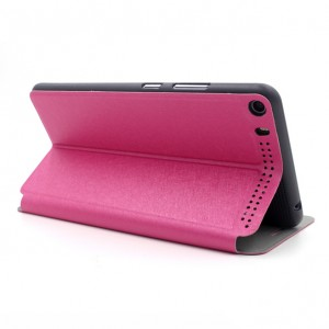 Текстурный чехол флип подставка на поликарбонатной основе для Lenovo Phab Plus Пурпурный