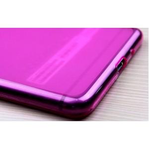 Силиконовый матовый полупрозрачный чехол для Lenovo Phab Plus Пурпурный