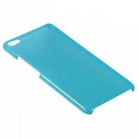 Пластиковый матовый полупрозрачный чехол для Lenovo Phab Plus Голубой