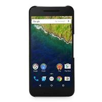 Кожаный чехол накладка (нат. кожа) для Google Huawei Nexus 6P Черный