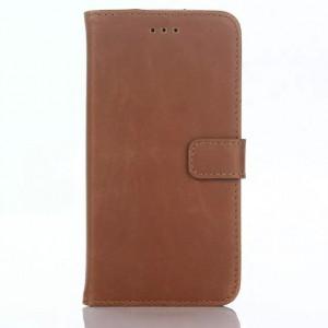 Винтажный чехол портмоне подставка с защелкой для LG Class Бежевый