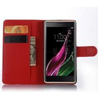 Чехол портмоне подставка с магнитной застежкой для LG Class Красный