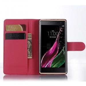 Чехол портмоне подставка с магнитной застежкой для LG Class Пурпурный