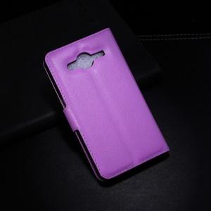 Чехол портмоне подставка с защелкой для Samsung Galaxy Core 2 Фиолетовый