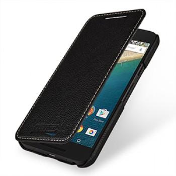 Кожаный чехол горизонтальная книжка (нат. кожа) для Google LG Nexus 5X