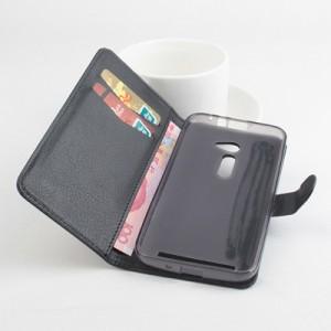 Чехол портмоне подставка на силиконовой основе с защелкой для Asus Zenfone 2 5