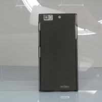 Силиконовый матовый полупрозрачный чехол для Lenovo K900 Черный