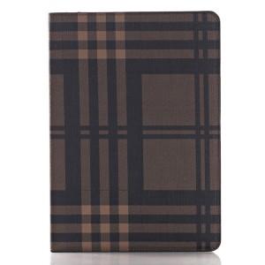 Текстурный чехол подставка с внутренними отсеками на поликарбонатной основе для Ipad Pro Коричневый
