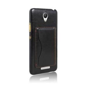 Дизайнерский чехол накладка с кожаным покрытием и отделением для карт-подставкой для Xiaomi RedMi Note 2
