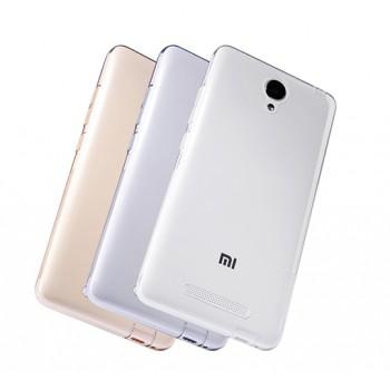 Силиконовый матовый полупрозрачный чехол повышенной защиты с дополнительными заглушками для Xiaomi RedMi Note 2