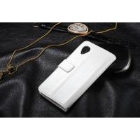 Чехол горизонтальная книжка-подставка для Google LG Nexus 5 Белый