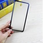 Двухкомпонентный чехол с силиконовым бампером и матовой полупрозрачной пластиковой накладкой для Xiaomi RedMi Note 2