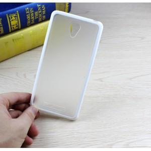 Двухкомпонентный чехол с силиконовым бампером и матовой полупрозрачной пластиковой накладкой для Xiaomi RedMi Note 2 Белый