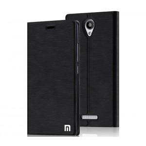 Чехол флип подставка на присоске с отделением для карты для Xiaomi RedMi Note 2 Черный