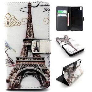 Дизайнерский чехол портмоне подставка с полноповерхностным принтом и застежкой  для BQ Aquaris E5