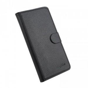 Чехол портмоне подставка на клеевой основе с магнитной застежкой для BQ Aquaris E5