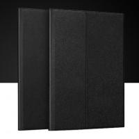 Нанотонкий 2мм кожаный чехол папка подставка с рамочной полузащитой экрана и подложкой для клавиатуры для Ipad Pro Черный