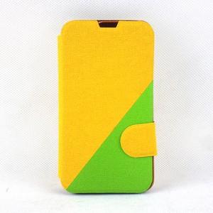 Двухцветный чехол флип подставка на пластиковой основе с отделением для карты и магнитной защелкой для LG L70