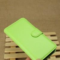 Чехол портмоне подставка с защелкой для LG L70 Зеленый