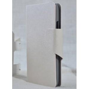 Текстурный чехол флип подставка на пластиковой основе с магнитной застежкой и отделением для карт для LG L70