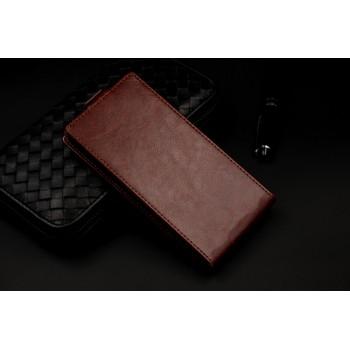 Чехол вертикальная книжка на клеевой основе с магнитной застежкой и отделением для карты для Highscreen Zera U