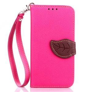Текстурный чехол портмоне с дизайнерской застежкой на силиконовой основе для Samsung Galaxy Core Prime