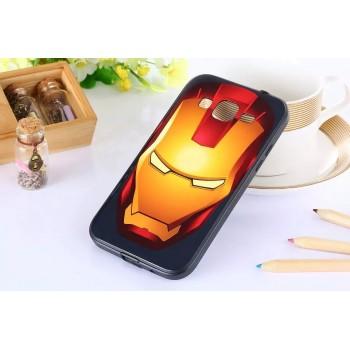 Двухкомпонентный чехол с силиконовой накладкой и поликарбонатным бампером с принтом для Samsung Galaxy Core Prime