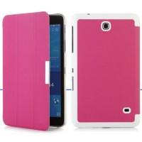 Чехол флип подставка сегментарный для Samsung Galaxy Tab 4 8.0 Розовый