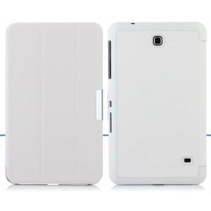 Чехол флип подставка сегментарный для Samsung Galaxy Tab 4 8.0 Белый