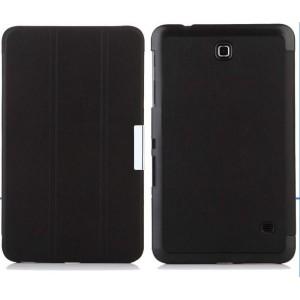 Чехол флип подставка сегментарный для Samsung Galaxy Tab 4 8.0 Черный
